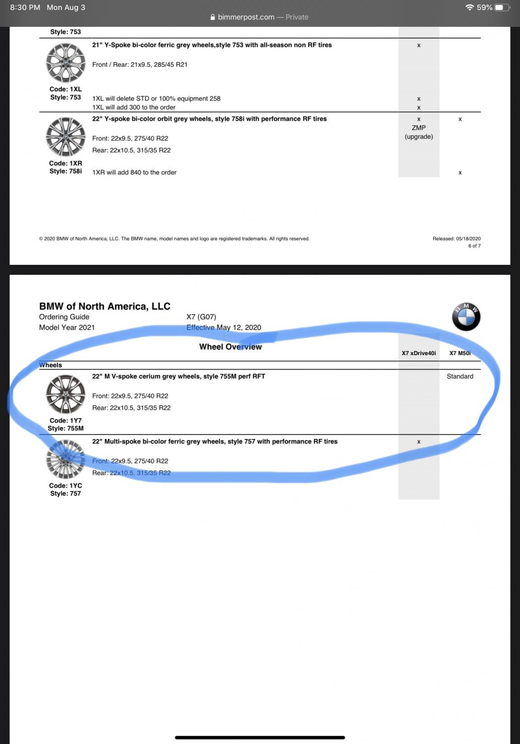 Dealer Says 755m Wheels No Longer Available For 2021 Xbimmers X7
